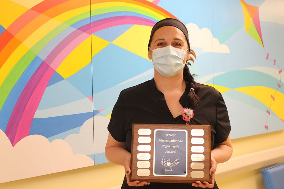 Paediatric Oncology Nurse wins 2021 OSMH Nightingale Award